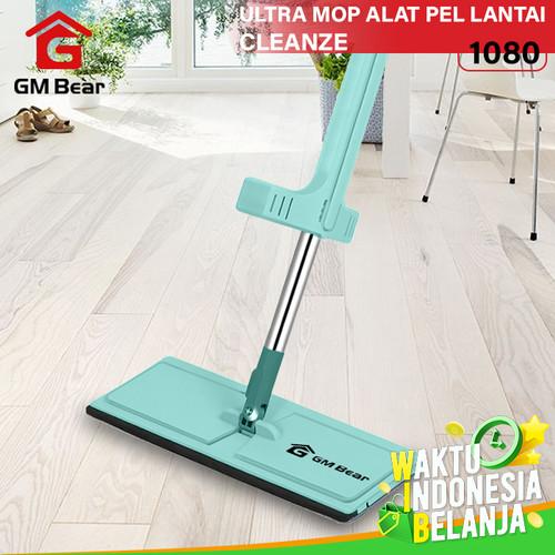 Foto Produk GM Bear Alat Pel Lantai Tarik Hijau 1080-Ultra Mop Cleanze Green dari GM Bear