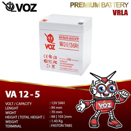 Foto Produk Voz 12V 5 Ah VRLA - Baterai UPS dari manekistore