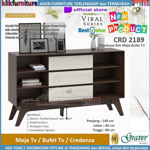 Foto Produk CRD 2189 Graver Viral Credenza Meja Tv Bufet Rak Tv dari klikfurniture