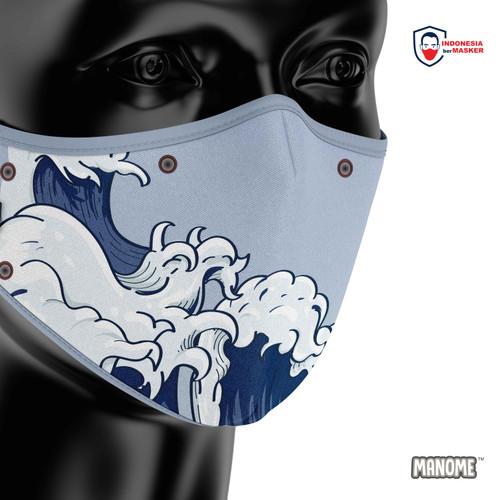 Foto Produk Manome Masker kain 3 Ply Premium ukuran Besar - OMBAK dari Manome Official
