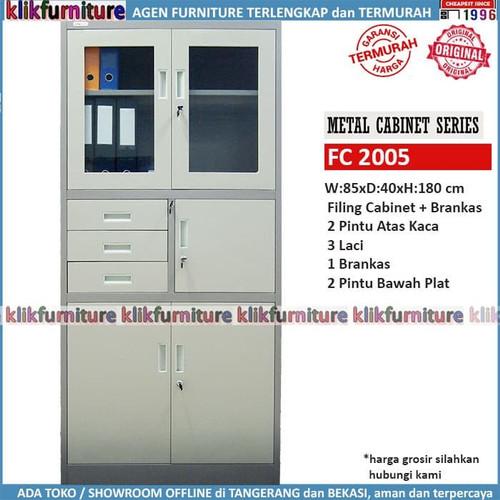 Foto Produk Lemari Arsip Filing Cabinet Besi Dengan Brankas FC 2005 SAPPORO BONN dari klikfurniture