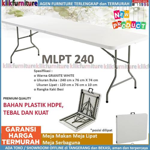 Foto Produk Meja Makan Lipat Kaki Besi MLA 240 SAPPORO GONEN dari klikfurniture