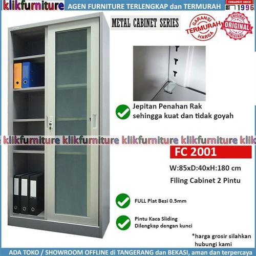 Foto Produk Lemari Arsip Filing Cabinet Besi Sliding Kaca FC 2001 SAPPORO FULDA dari klikfurniture