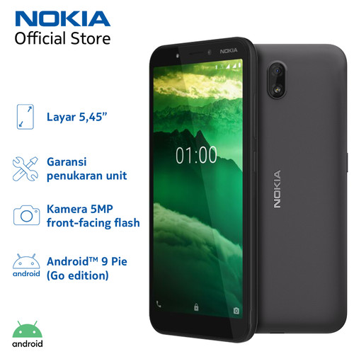 Foto Produk Nokia C1 1/16GB - Charcoal dari Nokia Mobile Official