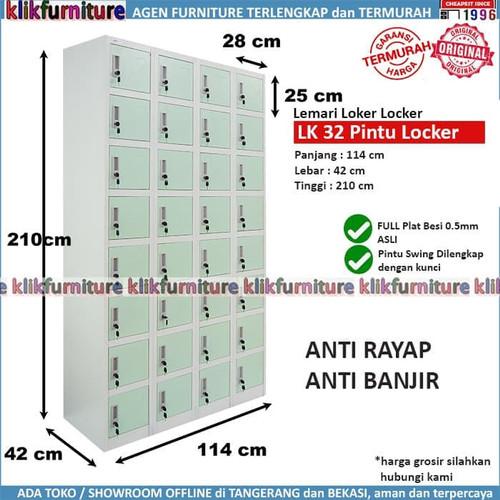 Foto Produk Lemari Loker Locker Cabinet 32 Pintu Full Besi SAPPORO STUTTGART dari klikfurniture