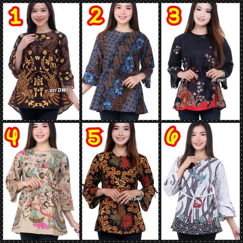 Foto Produk Blouse batik wanita terlaris 08 dari Batik Ganial