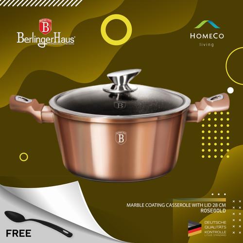 Foto Produk BERLINGER HAUS CASSEROLE WITH LID 28 CM ROSE GOLD / PANCI BERTUTUP dari Homeco Living Official
