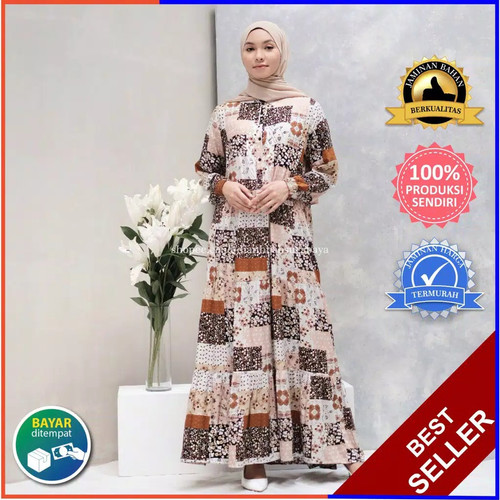 Jual Fashion Muslim Baju Gamis Wanita Dress Kalila Bahan Katun Premium Adem Denim L Kota Surabaya Shalimshoping Tokopedia