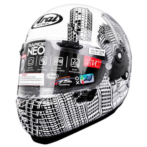 Foto Produk Arai SNI RAPIDE NEO ROARS Helm Full Face - Black White - L dari Arai Indonesia