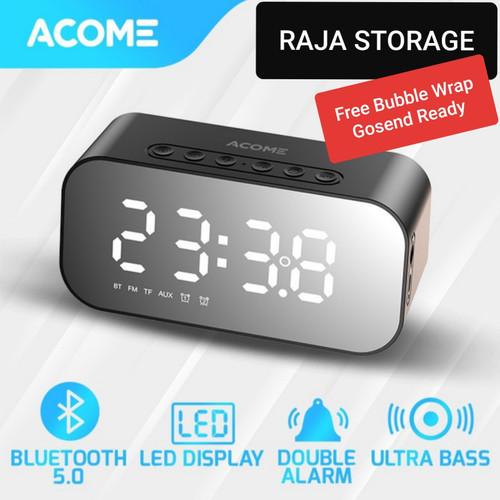 Foto Produk Acome A5 Speaker Bluetooth 5.0 Jam Alarm LED Display Ultra Bass - Speaker Only dari Raja Storage