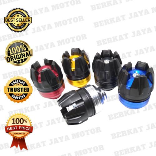 Foto Produk JALU AS RODA JUMBO MOTOR MODEL ROBOT BAHAN CNC - Biru dari Berkat Jaya Motor Sby