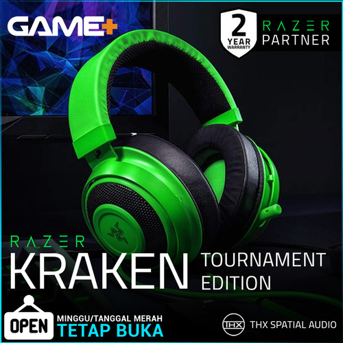 Foto Produk Razer Kraken Tournament Edition - Green Wired Gaming Headset with USB dari GamePlus