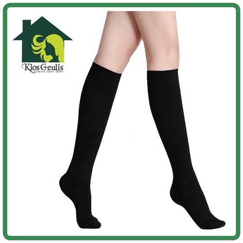 Foto Produk Flight Socks Stocking Kompresi Medical Compression Traveling Sock Calf - Nude, L dari KiosGeulis