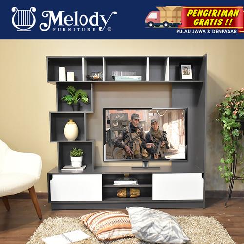 Promo Melody Furniture Lemari Meja Tv Harper Wall Unit Grey White Kab Malang Melody Furniture Tokopedia