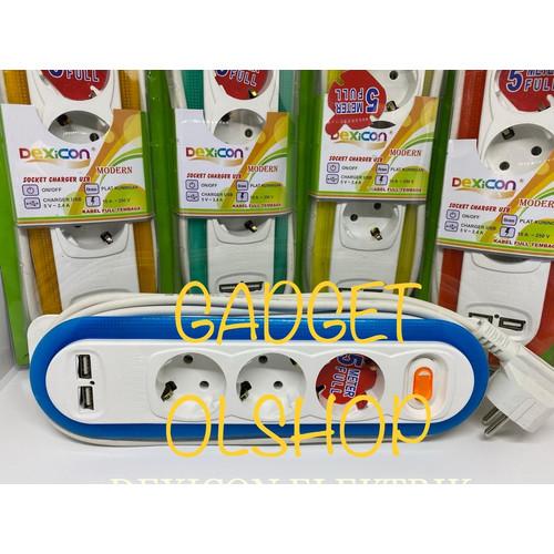 Foto Produk Stop kontak + charger usb/5 meter Lb 3/stop kontak arde/usb charger dari Gadget olshop