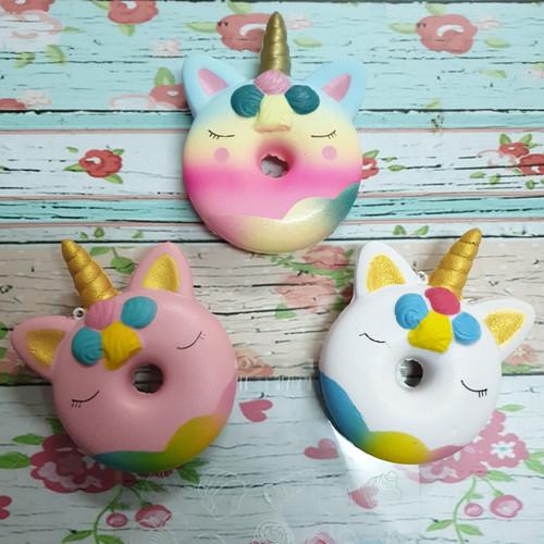 Foto Produk Squishy Murah Rainbow Unicorn Donut dari Adi Laris Shop
