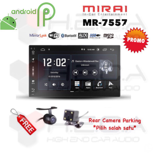 "Foto Produk MIRAI MR-7557 Android 7"" Head Unit Double din Tape MR7557 + Camera dari High End Car Audio"