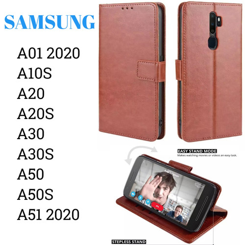 Foto Produk Flip Walet A01 A20S A51 Samsung Sarung Kulit Leather Case Cover Stand dari Indo Smart Acc