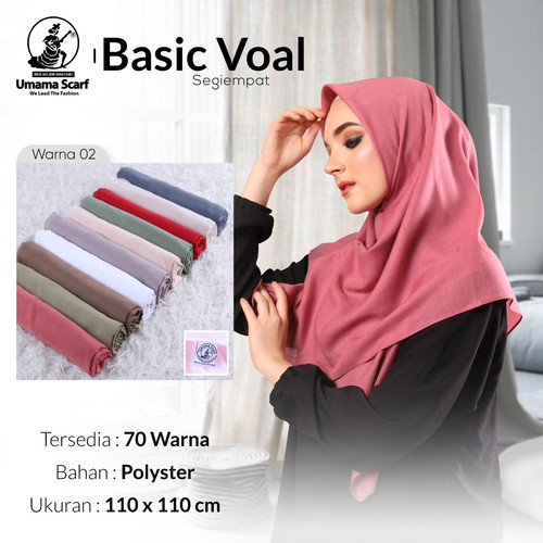 Foto Produk Hijab jilbab kerudung segi empat polos basic voal umama scarf dari saadah hijab fashion