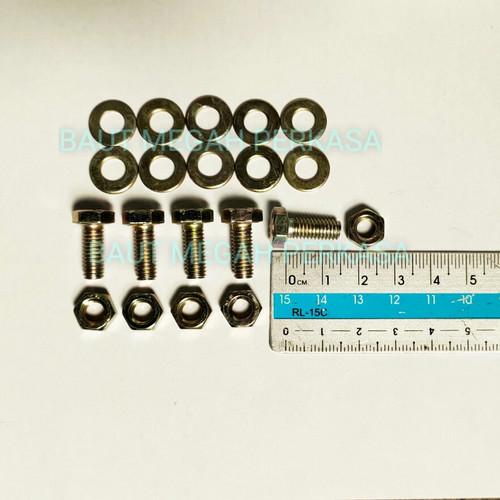 Foto Produk Baut Rak Siku (6x15) + Mur + Double Ring / BAUT 10 dari Baut Megah Perkasa