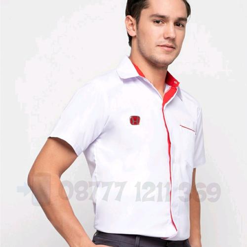 Foto Produk baju kemeja seragam honda pria lengan pendek size S, M , L - Putih, S dari D'Flower