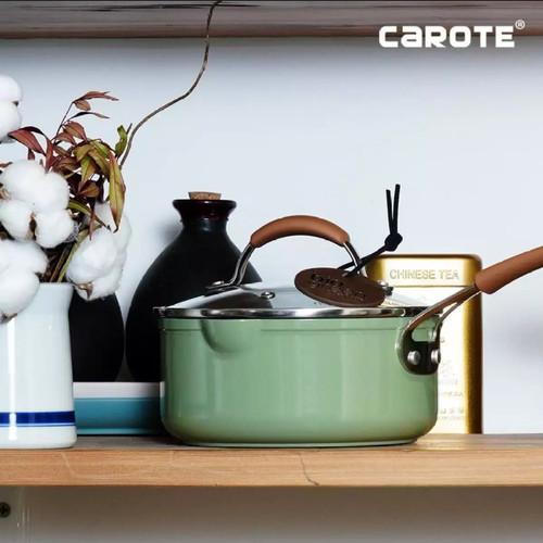 Foto Produk Carote Bio Green Sauce Pan With Lid 18 Cm dari MCI-BioGlass
