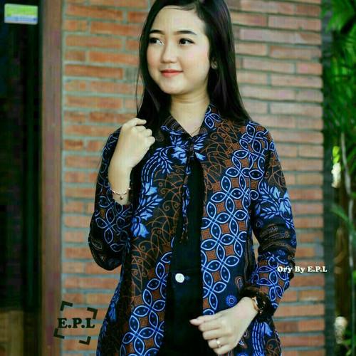 Foto Produk blouse batik bolero corak bunga berbaris dari kI. store