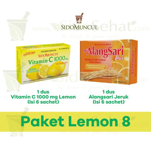 Foto Produk 1 Dus Vitamin C 1000 + 1 Dus Alangsari Jeruk Manis SidoMuncul dari SidoSehat