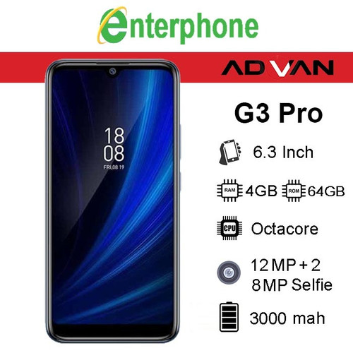 Foto Produk Advan G3 Pro 6.3 Inch 4GB / 64GB Garansi Resmi - Biru dari enterphone2