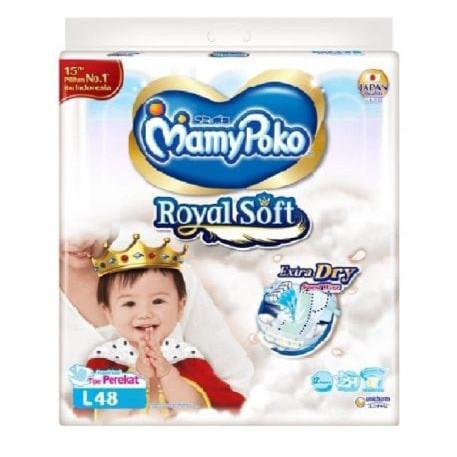 Foto Produk Mamypoko Extra Dry Royal Soft Perekat L48 dari Toko Sejahtera Baru Official