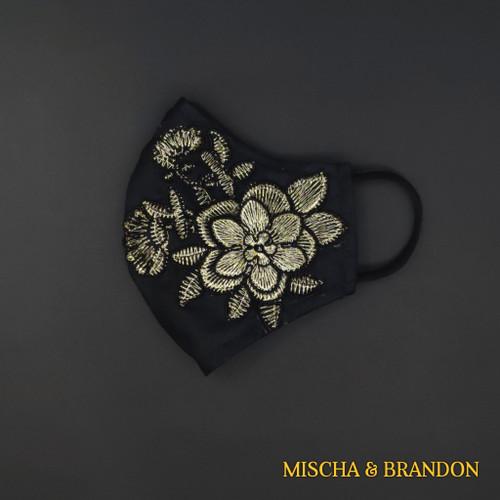 Foto Produk Masker Kain. Floral Patch II. Katun 100%. (3 ply). (Type-I) - Motif I, Headloop dari Mischa & Brandon