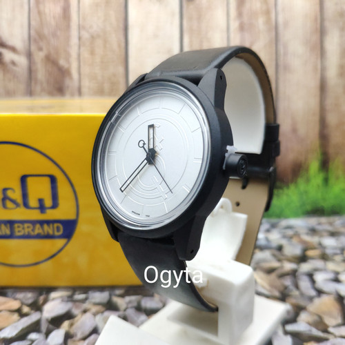 Foto Produk Q&Q QQ Smile Solar Jam Tangan Pria Kulit RP00J040Y Custom Original dari Ogyta Shop