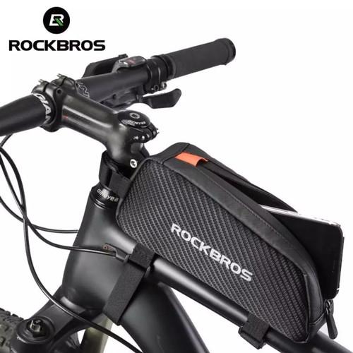 Foto Produk Tas Sepeda Rockbros waterproof tas frame sepeda 1L dari Uwo Sports