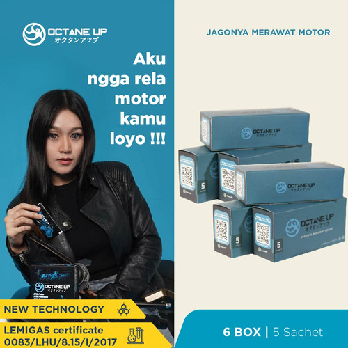 Foto Produk Octane Up - Cairan Perawatan Mesin Paket 6 Box isi 5 Sachet dari Octane Up Official