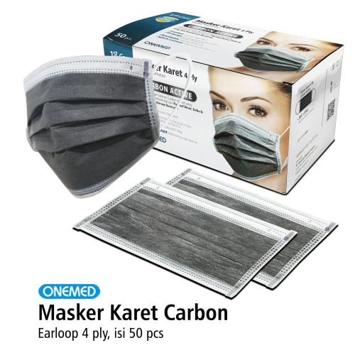 Foto Produk Masker Karet 4ply Carbon Active OneMed box 50pcs dari OneMed-Medicom