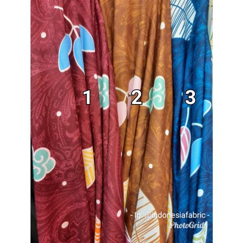 Foto Produk Kain Bahan Daster Homedress Gamis Kain rayon motif Poppy dari Toko Kain Grosir