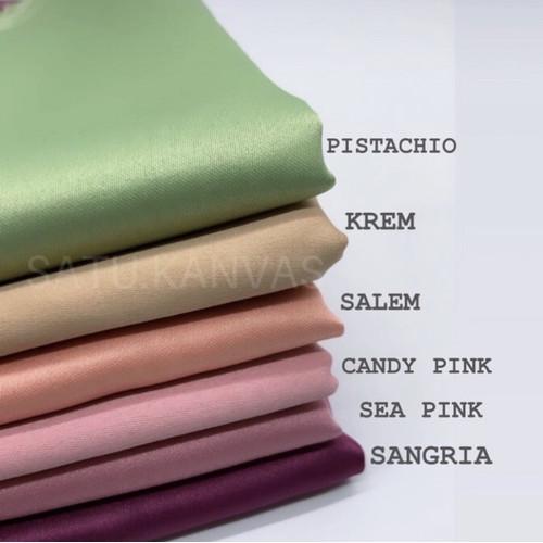 Foto Produk Kain Deluxe SATIN VELVET / kain satin / satin velvet dari Satu_kanvas