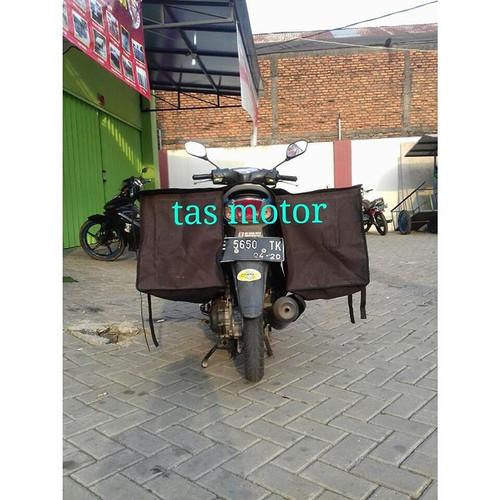 Foto Produk Tas motor / sadle bags Bahan Kanvas bima - Hitam dari Berkah Media Promosi