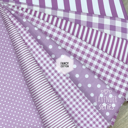 Foto Produk Kain Katun Jepang motif lavender series tokai senko - A. small polka dari maxshop online