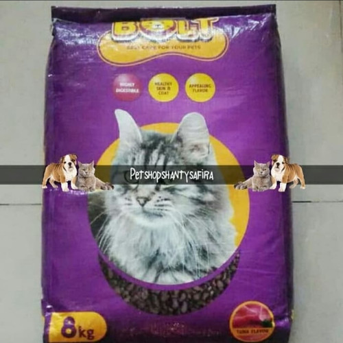 Foto Produk Makanan Kucing Bolt Ikan 800Gr dari Shantysafira2 Petshop