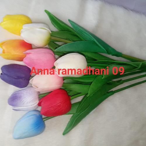 Foto Produk Bunga tulip latex / Tulip Artificial Flower - tulis di chat dari ramadhan 09 shop