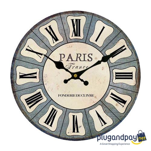 Foto Produk Jam Dinding Vintage Paris Classic Kuno Kekinian dari plugandpay