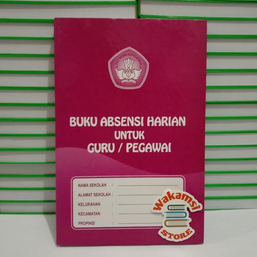Foto Produk BUKU ABSENSI HARIAN UNTUK GURU/PEGAWAI (Paking Bubble Wrap) dari Wakamsi_Store