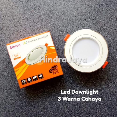 Foto Produk Lampu Led Downlight 5W Tricolor / 3 Warna Cahaya dari Hindrajaya