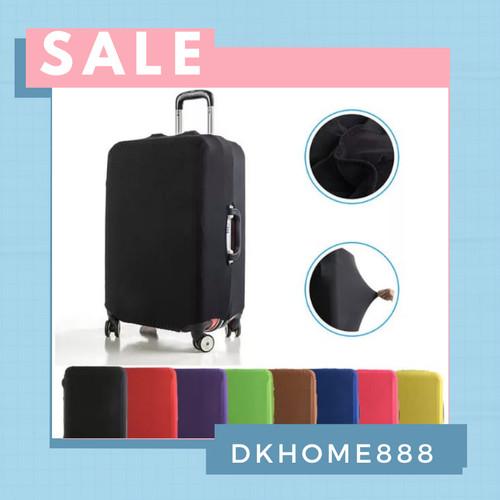 Foto Produk sarung koper / luggage cover size S - XL - S, Hitam dari dkhome888