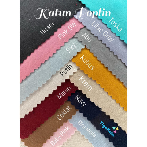 Foto Produk 0.5 Meter Kain Katun Poplin / Popline / Katun Jepang dari Nacy Tex