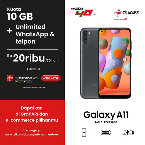 Foto Produk Paket Internet Merdeka - Samsung Galaxy A11 dari Telkomsel