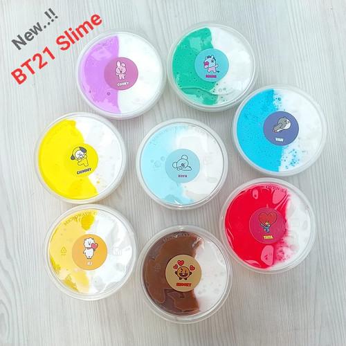 Foto Produk Slime BTS/ Slime BT 21/8 Varian/Slime Jiggly/Slime Tofu/ BT21 dari www-bajualya-com