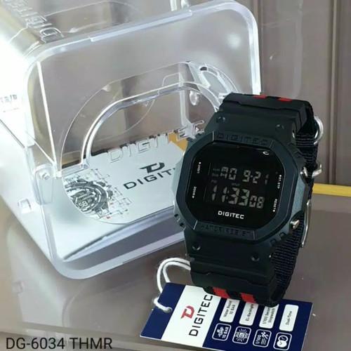 Foto Produk jam tangan pria DIGITEC 6034 Tali kanvas digital original dari wahana grosir jam
