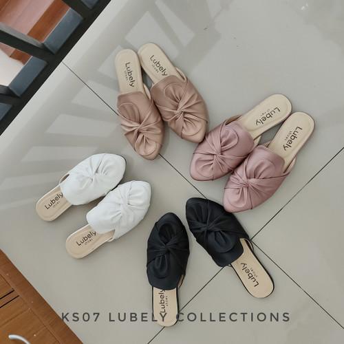 Foto Produk KS07 SANDAL SELOP FLAT PITA WANITA - Putih, 39 dari Elstore Sepatu Bogor